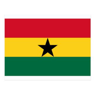 Niedrige Kosten! Ghana-Flagge Postkarte