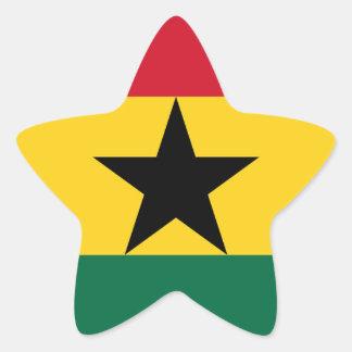 Niedrige Kosten! Ghana-Flagge Stern-Aufkleber