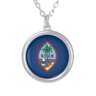 Niedrige Kosten! Guam-Flagge Versilberte Kette