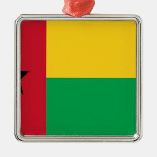 Niedrige Kosten! Guinea-Bissau Flagge Silbernes Ornament