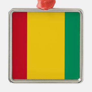 Niedrige Kosten! Guinea-Flagge Silbernes Ornament
