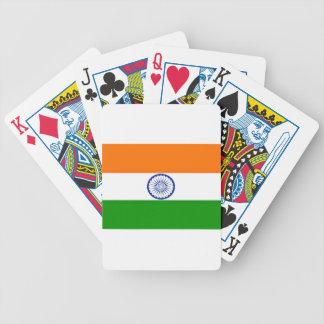 Niedrige Kosten! Indien-Flagge Bicycle Spielkarten