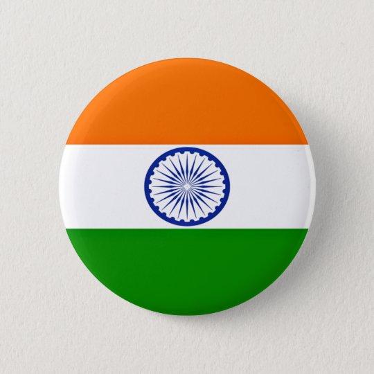 Niedrige Kosten! Indien-Flagge Runder Button 5,1 Cm