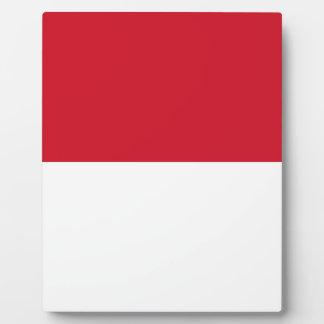 Niedrige Kosten! Indonesien-Flagge Fotoplatte
