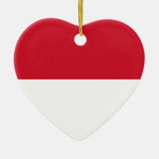 Niedrige Kosten! Indonesien-Flagge Keramik Herz-Ornament