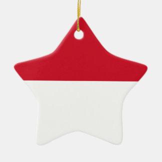 Niedrige Kosten! Indonesien-Flagge Keramik Stern-Ornament