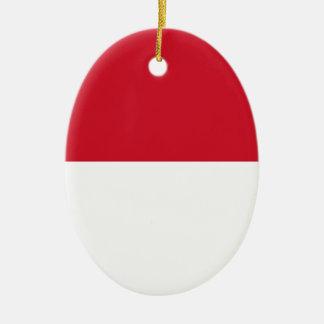 Niedrige Kosten! Indonesien-Flagge Ovales Keramik Ornament