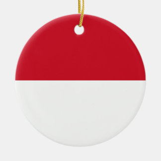 Niedrige Kosten! Indonesien-Flagge Rundes Keramik Ornament