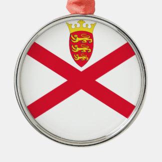 Niedrige Kosten! Jersey-Flagge Silbernes Ornament