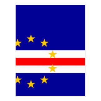 Niedrige Kosten! Kap-Verde Flagge Postkarte