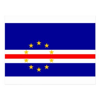 Niedrige Kosten! Kap-Verde Flagge Postkarten