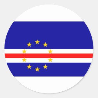 Niedrige Kosten! Kap-Verde Flagge Runder Aufkleber
