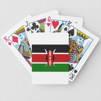 Niedrige Kosten! Kenia-Flagge Bicycle Spielkarten