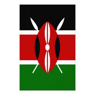 Niedrige Kosten! Kenia-Flagge Briefpapier