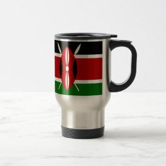Niedrige Kosten! Kenia-Flagge Reisebecher