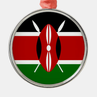 Niedrige Kosten! Kenia-Flagge Silbernes Ornament