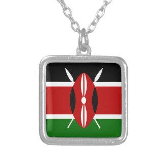 Niedrige Kosten! Kenia-Flagge Versilberte Kette