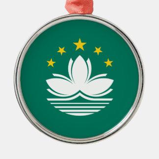Niedrige Kosten! Macao-Flagge Silbernes Ornament