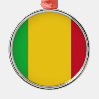 Niedrige Kosten! Mali-Flagge Silbernes Ornament