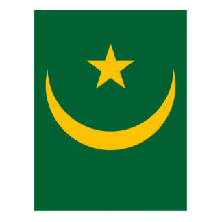 Niedrige Kosten! Mauretanien-Flagge Postkarte