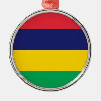 Niedrige Kosten! Mauritius-Flagge Silbernes Ornament
