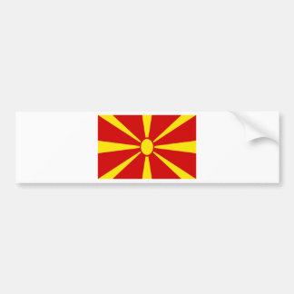 Niedrige Kosten! Mazedonien-Flagge Autoaufkleber