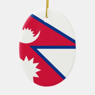 Niedrige Kosten! Nepal-Flagge Keramik Ornament