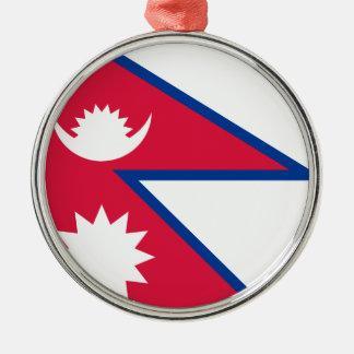 Niedrige Kosten! Nepal-Flagge Silbernes Ornament