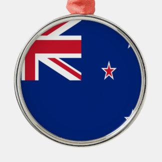 Niedrige Kosten! Neuseeland-Flagge Silbernes Ornament