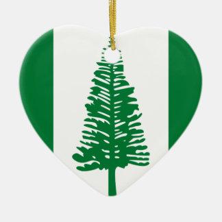 Niedrige Kosten! Norfolk-Insel-Flagge Keramik Herz-Ornament