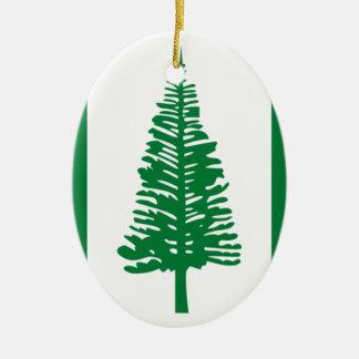 Niedrige Kosten! Norfolk-Insel-Flagge Keramik Ornament