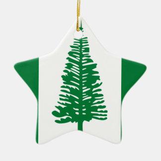 Niedrige Kosten! Norfolk-Insel-Flagge Keramik Stern-Ornament