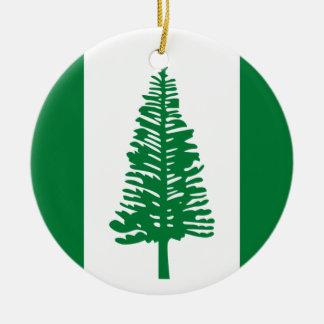 Niedrige Kosten! Norfolk-Insel-Flagge Rundes Keramik Ornament
