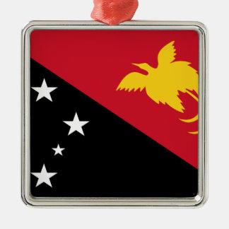 Niedrige Kosten! Papua-Neu-Guinea Flagge Silbernes Ornament