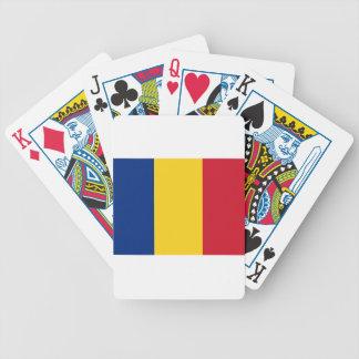 Niedrige Kosten! Rumänien-Flagge Bicycle Spielkarten