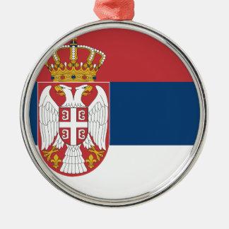 Niedrige Kosten! Serbien-Flagge Silbernes Ornament