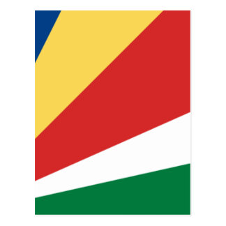 Niedrige Kosten! Seychellen-Flagge Postkarte