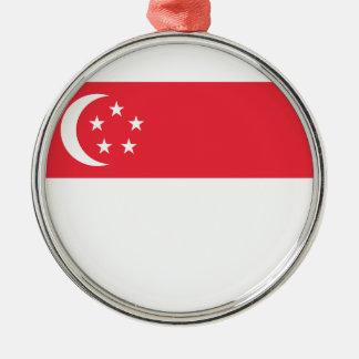 Niedrige Kosten! Singapur-Flagge Silbernes Ornament