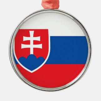 Niedrige Kosten! Slowakei-Flagge Silbernes Ornament