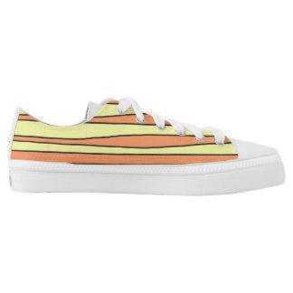 Niedrige Spitzenschuhe mit Streifen Niedrig-geschnittene Sneaker