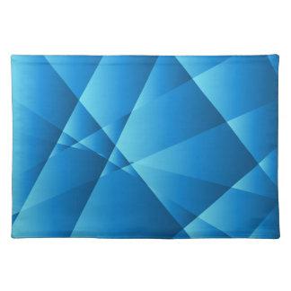 Niedriger blauer abstrakter Polyhintergrund Tisch Set