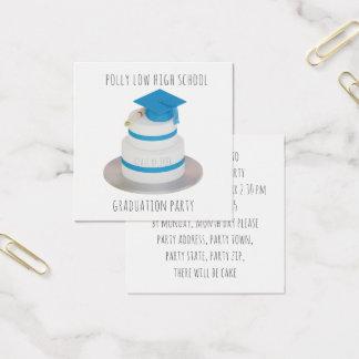 Niedriger PolyAbschluss-Kuchen-lädt Quadratische Visitenkarte