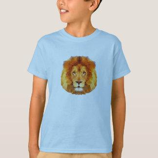 Niedriger Polyentwurf. Löweillustration T-Shirt
