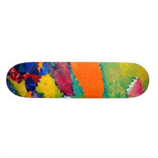 """Niedriges rotes u. blaues Skateboards 17 Poly¾ """" Personalisierte Skateboarddecks"""