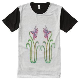 Niedrigste elegante Blumen des Preis-NOVINO mit T-Shirt Mit Komplett Bedruckbarer Vorderseite