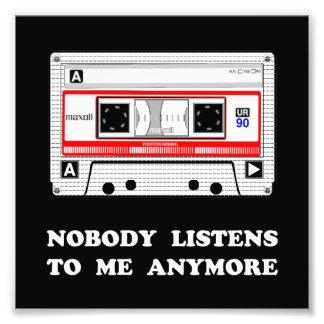 Niemand hört Kassette Fotos
