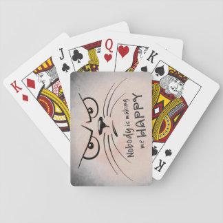 Niemand macht mich glücklich spielkarten