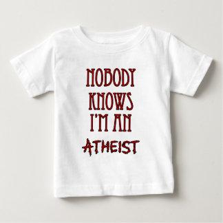 Niemand weiß, dass ich ein Atheist bin Baby T-shirt