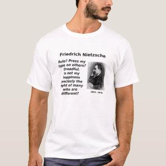 Nietzsche, Glück im Unterschied T-Shirt
