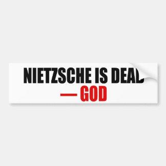Nietzsche ist tot autoaufkleber